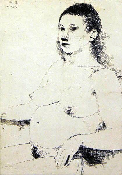 Zittende zwangere vrouw