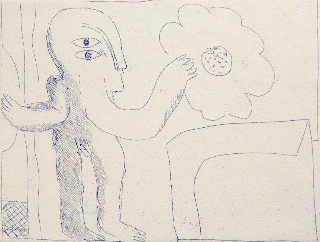 Radierungen zu siebzehn Gedichten von Cesare Pavese: Terra rossa terra nera