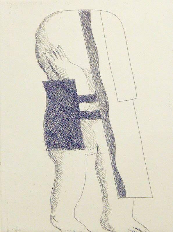 Radierungen zu siebzehn Gedichten von Cesare Pavese: Passerò per Piazza di Spagna