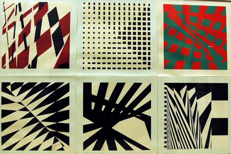 Compositie in een op een punt staand vierkant