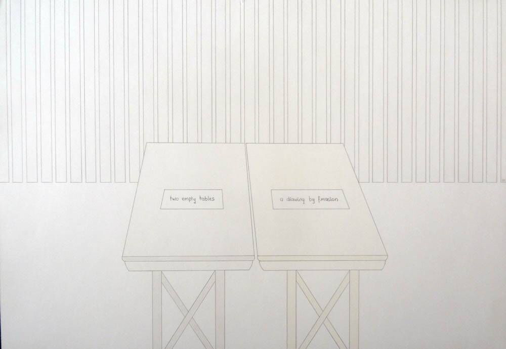Two empty tables