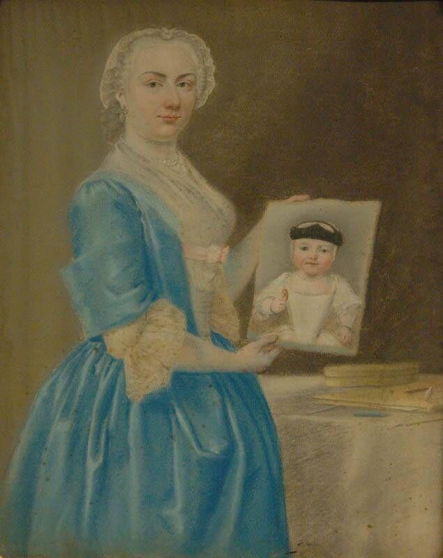 portret van Maria Croon, echtgenote van Burgemeester van Oosten de Bruyn