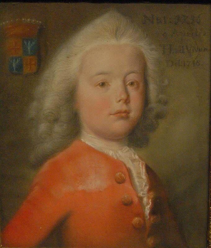 Portret van Albert Fabricius als kind