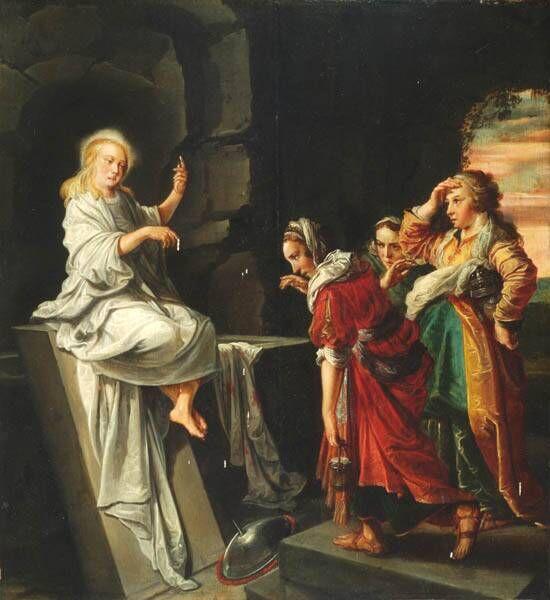 De drie Maria's bij het graf na de opstanding