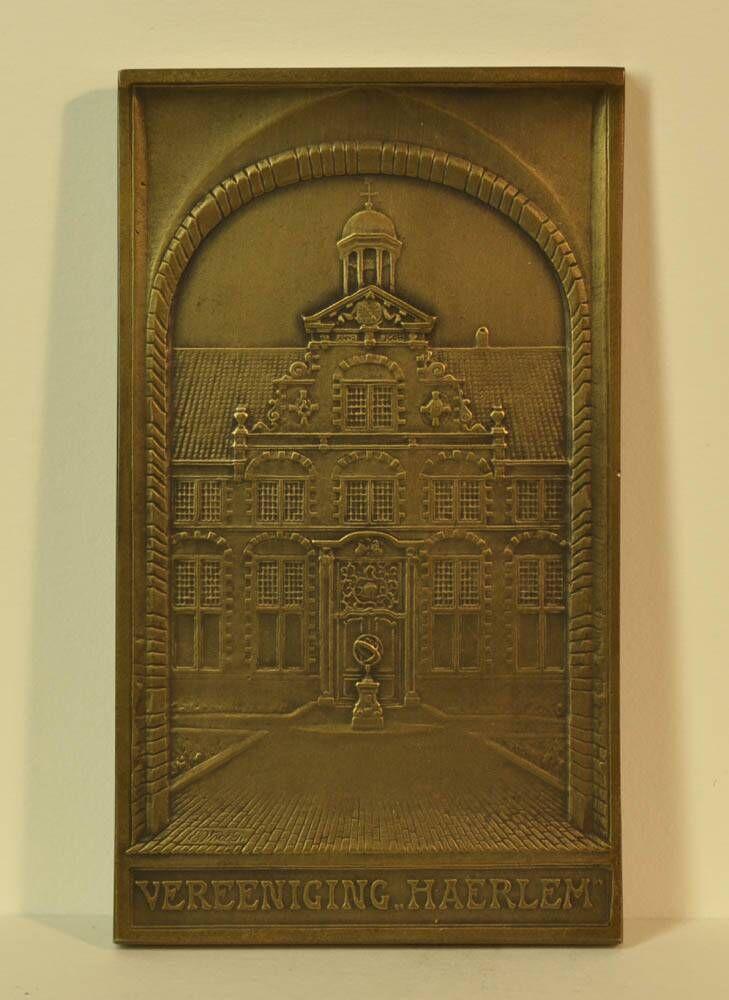 Gedenkpenning ter ere van de herbouw van de toren op het stadhuis van Haarlem